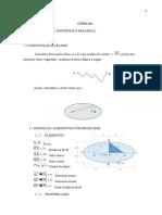 1- Resumo de Geometria Analílica - Cônicas - Elipse, Hipérbole e Parábola - Concluído
