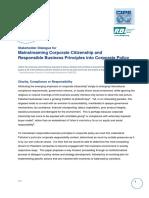 RBI-CIPE CSR Concept Paper- Roundtable 2009