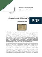 Carta de Antonio Del Corro a Felipe II