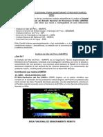 Estrategia Institucional Para Monitoriar y Pronosticar El Niño