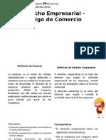 Derecho Empresarial - Código de Comercio