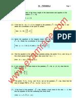 Mathematics Parabola