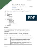 Documento de Alcance - Kumitec.docx
