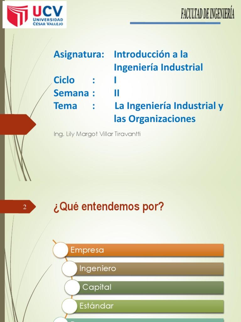 La Ingenieria Industrial Y Las Organizaciones Pdf