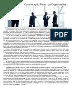 Artigo a Importância Da Comunicação Eficaz Nas Organizações