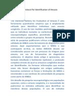 The Montreal Protocol for Identification of Amusia FICHAMENTO