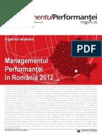 Managementul Performantei in Romania In