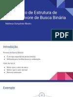 Laboratório de Estrutura de Dados - Árvore de Busca Binária