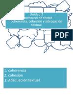 Coherencia y Cohesión Textual 1