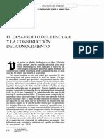 Cajiao (1997) Desarrollo de Lenguaje y Construcción de Conocimiento en Revista Colombiana de Psicología No 5- 6 Pgs 178 - 189
