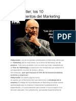 10 Mandamientos Del Marketing Segun Philipp Kolter