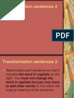 Transformation Sentences 21