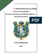 Diseño Curricular de La E.P. de Ing. Ambiental y Recursos Naturales 2016