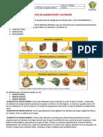 GUIA DE ALIMENTOS Y NUTRIENTES 5° BÁSICO