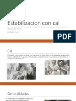 EXPOSICION Estabilizacion Con Cal