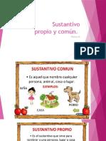 Sustantivo Propio y Comun PRIMERO BASICO