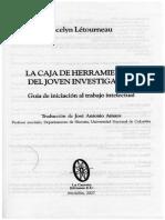 LÉTOURNEAU Cap. 1 Cómo Elaborar Un Informe de Lectura