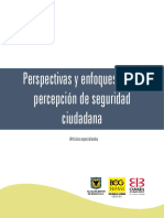Perspectivas y Enfoques Sobre Percepción de Seguridad Ciudadana I
