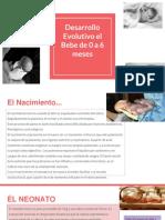 Desarrollo Evolutivo El Bebe de 0 a 6 Meses