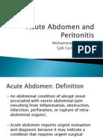 Acute Abdomen and Peritonitis