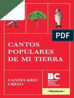 Cantos Populares de Mi Tierra de Candelario Obeso