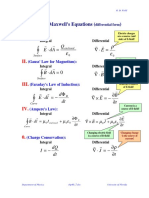 !UFES - Eletromagnetismo 1 - Complete Maxwell's Equations (Differential Form)