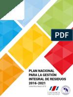 Plan Nacional Para La Gestión Integral de Residuos 2016-2021