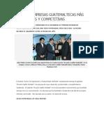 Las Ocho Empresas Guatemaltecas Màs Productivas y