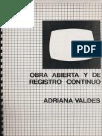 Obra Abierta y Registro Continuo - Adriana Valdés