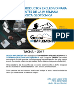 Catalogo Productos - Tacna 17