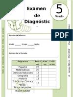 5to Grado - Examen de Diagnóstico (2017-2018)