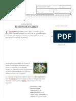 Definición de Biodegradable - Qué Es, Significado y Concepto