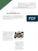Definición de Biodisponibilidad - Qué Es, Significado y Concepto