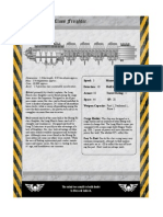 Rogue Trader Long March Freighter Data Sheet