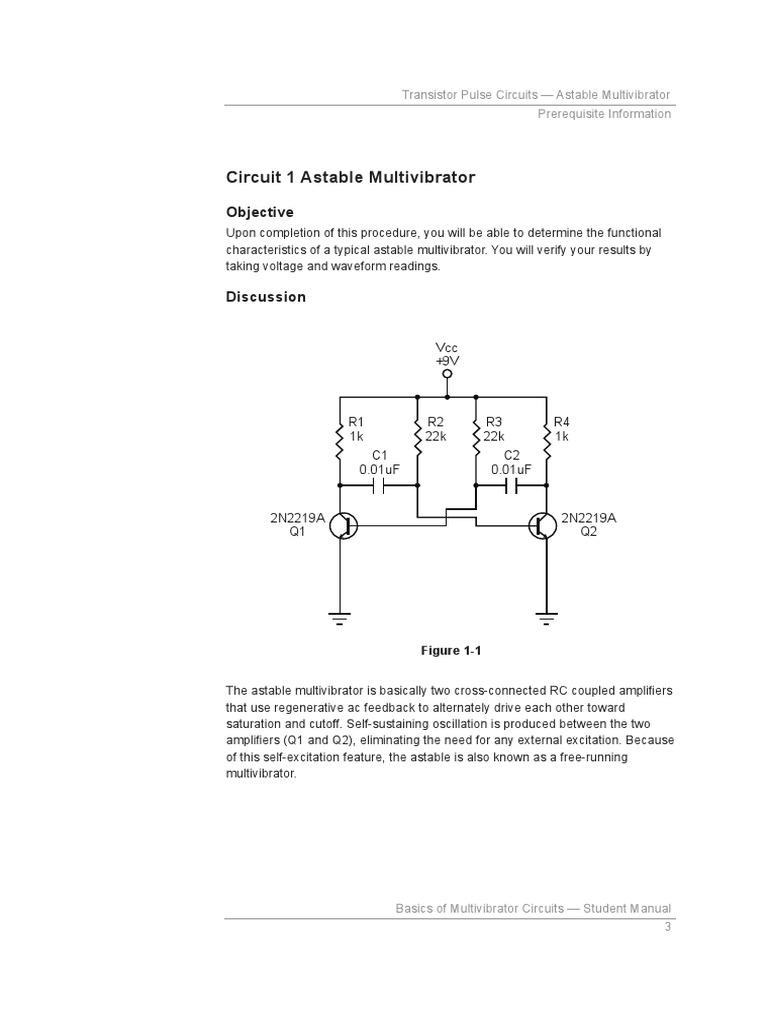 37967 00 1 Electronic Design Electricity Astable Multivibrator Circuit