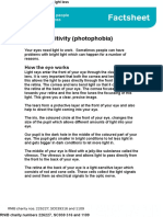 Light Sensitivity Factsheet