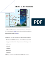 Soal Geografi Kelas X Bab Atmosfer