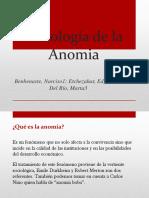 Psicología de La Anomia