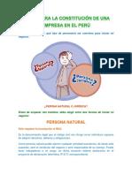 PASOS PARA LA CONSTITUCIÓN DE UNA EMPRESA EN EL PERÚ.docx