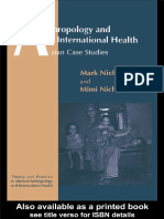 (Theory and practice in medical anthropology and international health, v. 3) Mark Nichter_ Mimi Nichter-Anthropology and international health _ Asian case studies-Gordon and Breach (1996).pdf