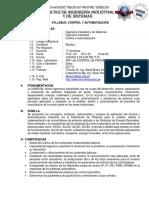 SYLLABUS Control y Automatización 2017-2
