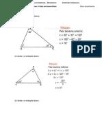 Lista de Exercícios Triângulos 2
