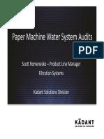 3 Paper Machine Water Systems Scott Romenesko Kadant