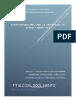 Producto académico N°4 Psciologia del Aprendizaje y memoria