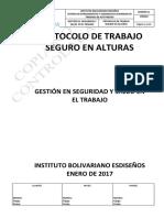 Protocolo de Trabajo en Alturas