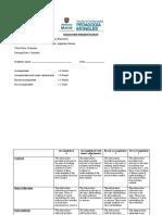 Rubrica Diagnosis Presentation