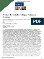 4. Espinoza. Tratado Teológico-Político (Prefácio) (Pt)
