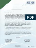 Carta de Presentación. Huatay-upeu