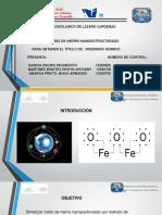 sintesis de oxio de hierro