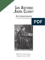 Autobiografía San Antonio María Claret Buenos Aires 2008.